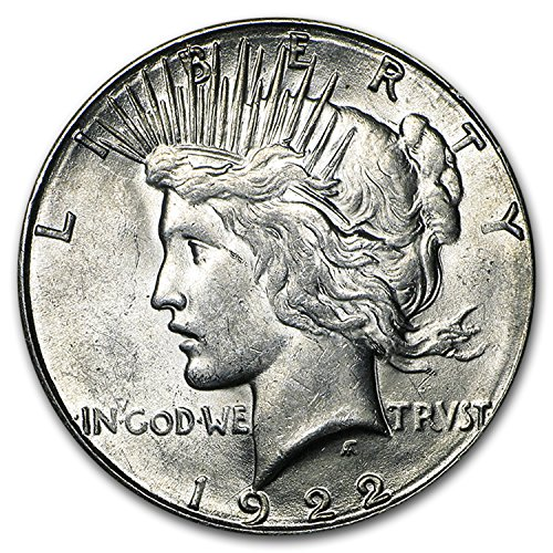 1922 S Peace Dollar AU $1 About Uncirculated