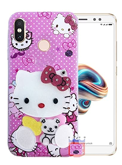 on sale d4c63 a53d7 Aarnik Makeup Mirror Soft Kitty Case Cover for Xiaomi Redmi Note 5 Pro -  Multi Colour