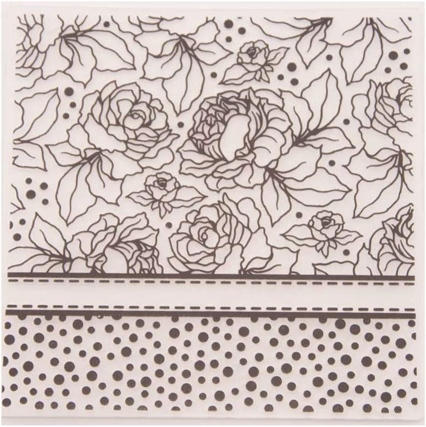 Floral Flowers Dots Background Plastic Embossing Folders for Card Making Scrapbooking or Paper Crafts