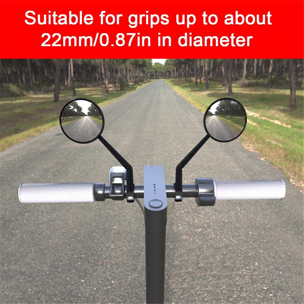 Amazon.com: Prom-Near Rearview Mirror 2 PCS Scooter Rearview ...