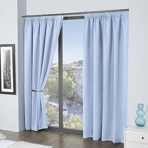 Pencil Pleat Blackout Curtains: Amazon.co.uk