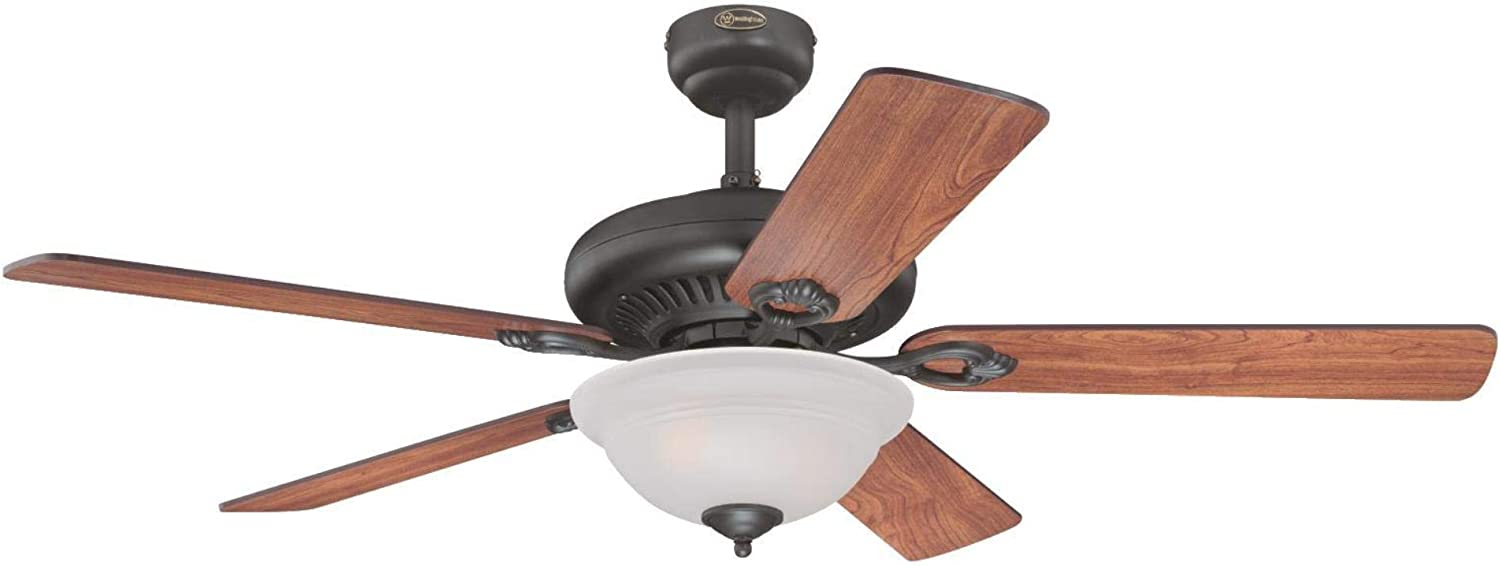 Westinghouse Lighting 7235100 Fairview Indoor Ceiling Fan with Light and Remote, 52 Inch, Oil Rubbed Bronze