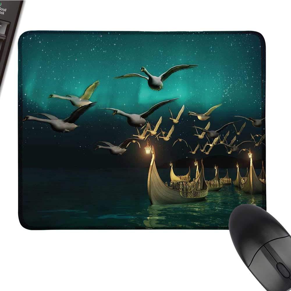 FantasyOffice マウスパッド ふくらはぎのピクシー 満月の空の夜 マジックフェアリーガール グラフィック 防水マウスパッド 9.8インチx11.8インチ マルチカラー 9.8
