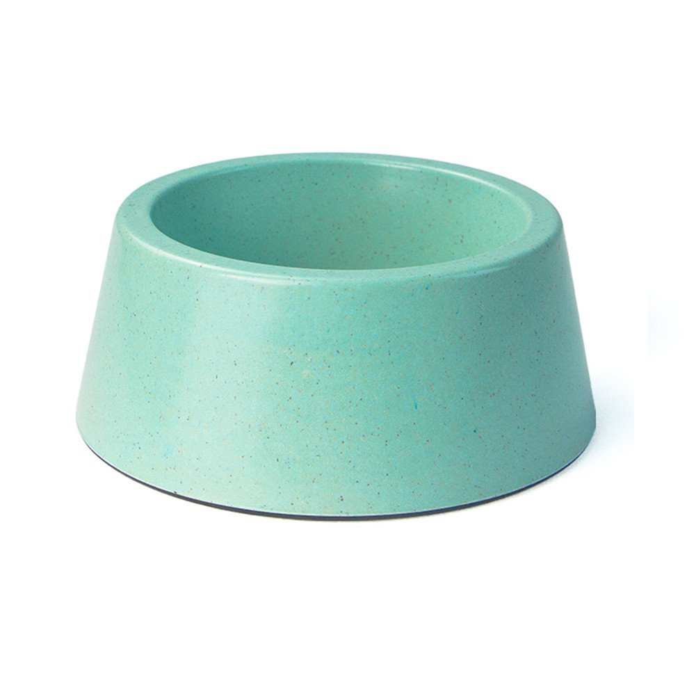 Forever-You Dog Bowl Dog Pot cat Bowl Double Bowl Small pet Stainless Steel Drinking Water Bowl, green1