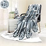 YOYI-HOME Luxury Collection Ultra Soft PlushGirls Best Friends Frame Graphic Bridal Shower Bachelorette Party Theme Grey White All-Season Throw/Bed Blanket /W47 x H79