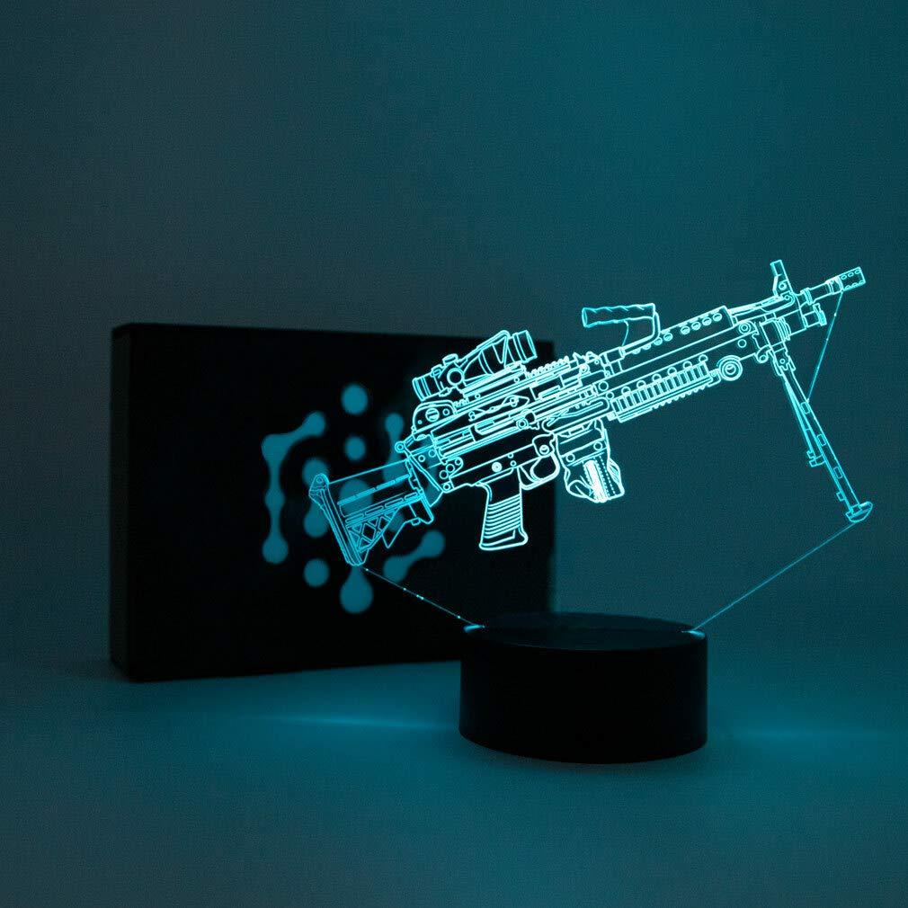 AK-47 Geschenk Stimmungslicht 3D LED Lampe CSGO Nachtlicht Leuchte 7 Farben Elbeffekt Acryl Illusion Dekoration Dekolicht