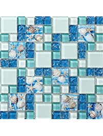 Glass Tiles Amazoncom Kitchen Bath Fixtures Kitchen