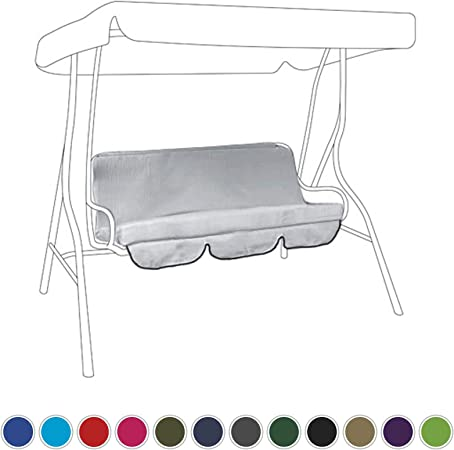 Grey Replacement 4 Seater Folding Bench Cushion Pad Easy Storage Garden Outdoor