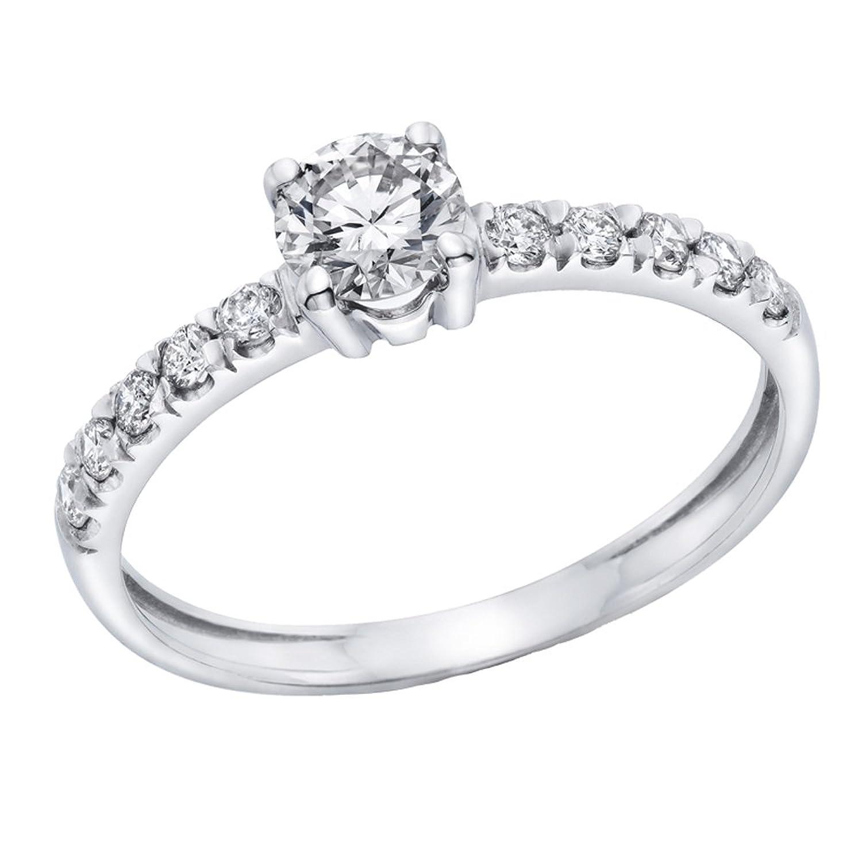 Diamantring verlobung  Klassischer 18 Karat (750) Weißgold Solitär Verlobung Diamant ...