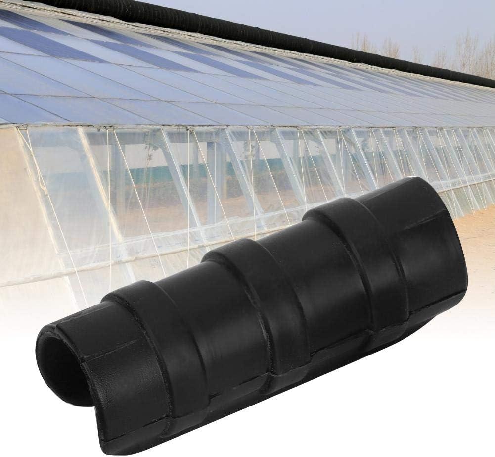 Mumusuki 50PCS Black Greenhouse Plastic Film Frame Pipe Tube and Film Clip Clamp Connector Kit Garden Tool 8CM