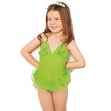 20a6481c29b5b Amazon.com  CT Little Girl Stripes Ruffle One-Piece Swimwear ...