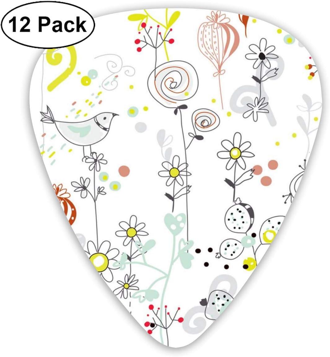 Slaytio 12 púas de Guitarra con patrón Floral sin Costuras con ...