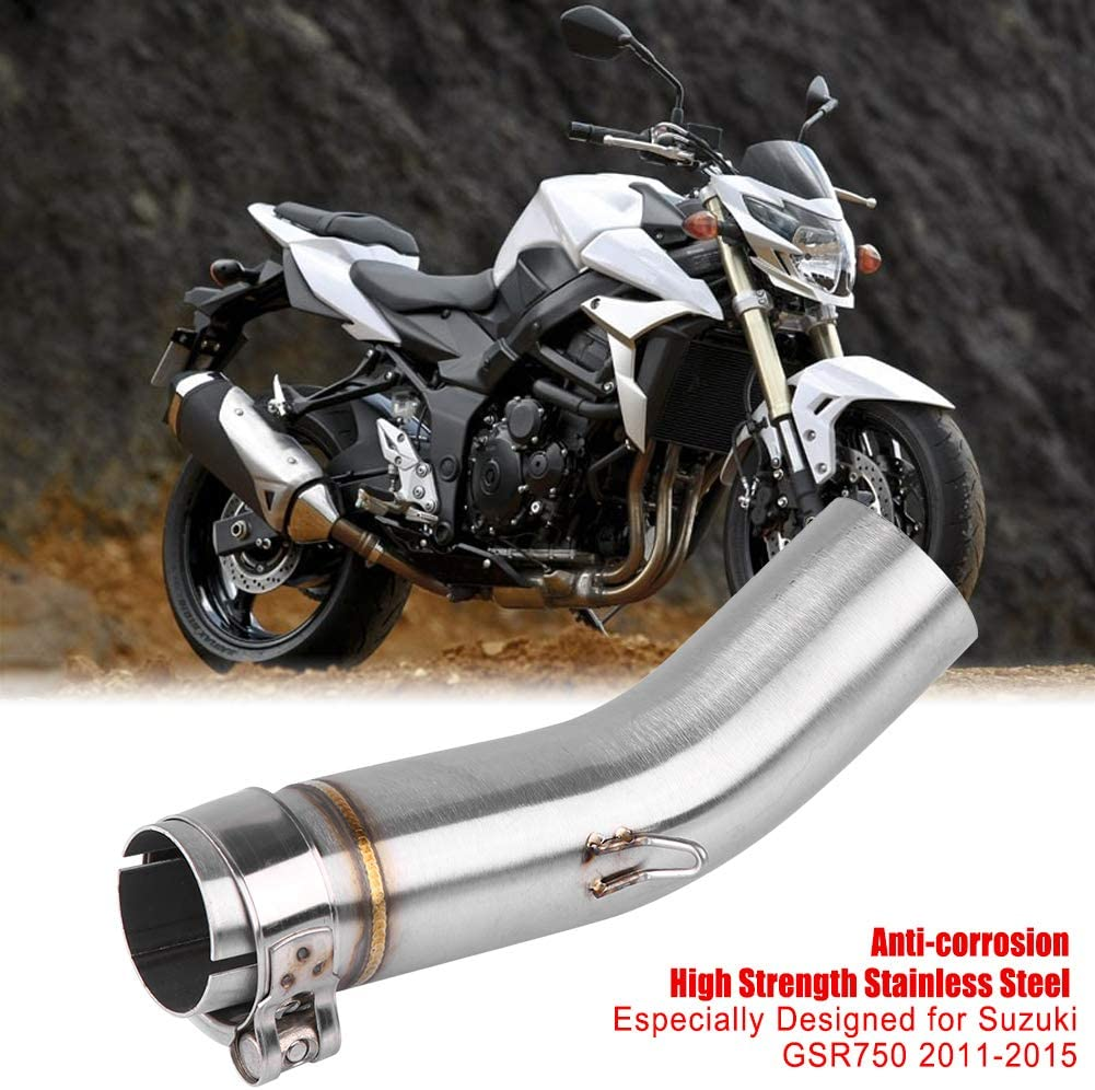 Approx 51mm//2.01 KIMISS Motorcycle Exhaust Middle Pipe Link Connect for GSR750 2011-2015