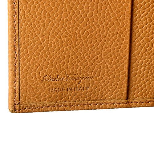 Textured Salvatore Ferragamo Ferragamo Salvatore Light Wallet Light Brown Bifold Men's Leather Men's p8Ox1