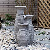 """Outsunny 26"""" Three-Pitcher Pouring Indoor/Outdoor Water Fountain"""