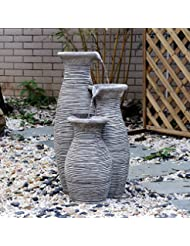 """Outsunny 26"""" Three-Pitcher Pouring Indoor/Outdoor Water Fou..."""