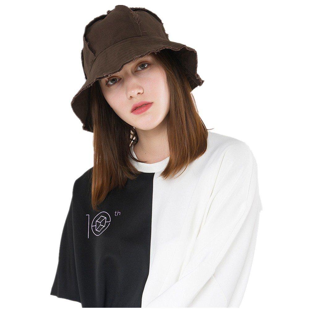 EsTong Women Bucket Hat UV Sun Protection Wide Brim Packable Outdoor Cap Brown