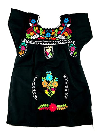 Vestido Mexicano Para Fiesta De Halloween Color Negro