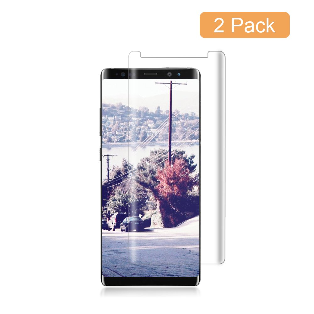 [2-Pack] Galaxy Note 8 Clear Screen Protector, Cafetec Tempered Glass Screen Protector HD Clear Film Anti-Bubble 3D Touch Screen Protector Compatible with Samsung Galaxy Note 8.