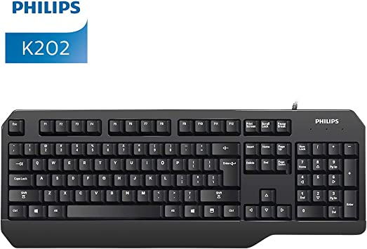 Philips Teclado para Juegos, Teclado mecánico ergonómico con Cable USB para PC, Ordenador portátil, Mac