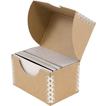 Amazon jam paper desktop business card box natural brown jam paper desktop business card box natural brown with metal edge sold individually reheart Images