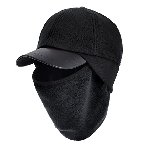 60796be7864 ECYC Masked Scarf Fleece Cap Hat Warm Windproof Balaclava for Women Men Ski  Masks for Outdoor