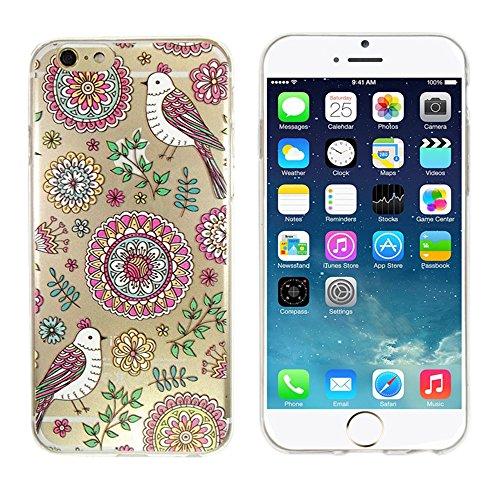 iPhone 5S Case,iRonsnow(TM) Ultra Thin Clear Pattern Art Gel TPU Bumper Rubber Skin Flexible Slim Soft Case for Apple iPhone 5 5S 5G 5th (Ultra thin-#10)
