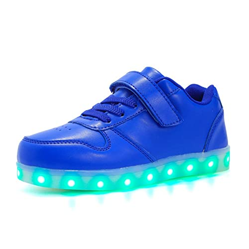 Unisex Niños Niñas Zapatos con LED Luces 7 Colores USB Carga Luminosas Flash Zapatillas de Deporte para la Fiesta de Baile de Navidad de San Valentín: ...