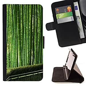 DEVIL CASE - FOR HTC One M8 - Plant Nature Forrest Flower 35 - Style PU Leather Case Wallet Flip Stand Flap Closure Cover