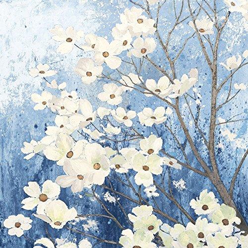 Dogwood Blossoms I Indigo by James Wiens Art Print, 20 x 20 inches