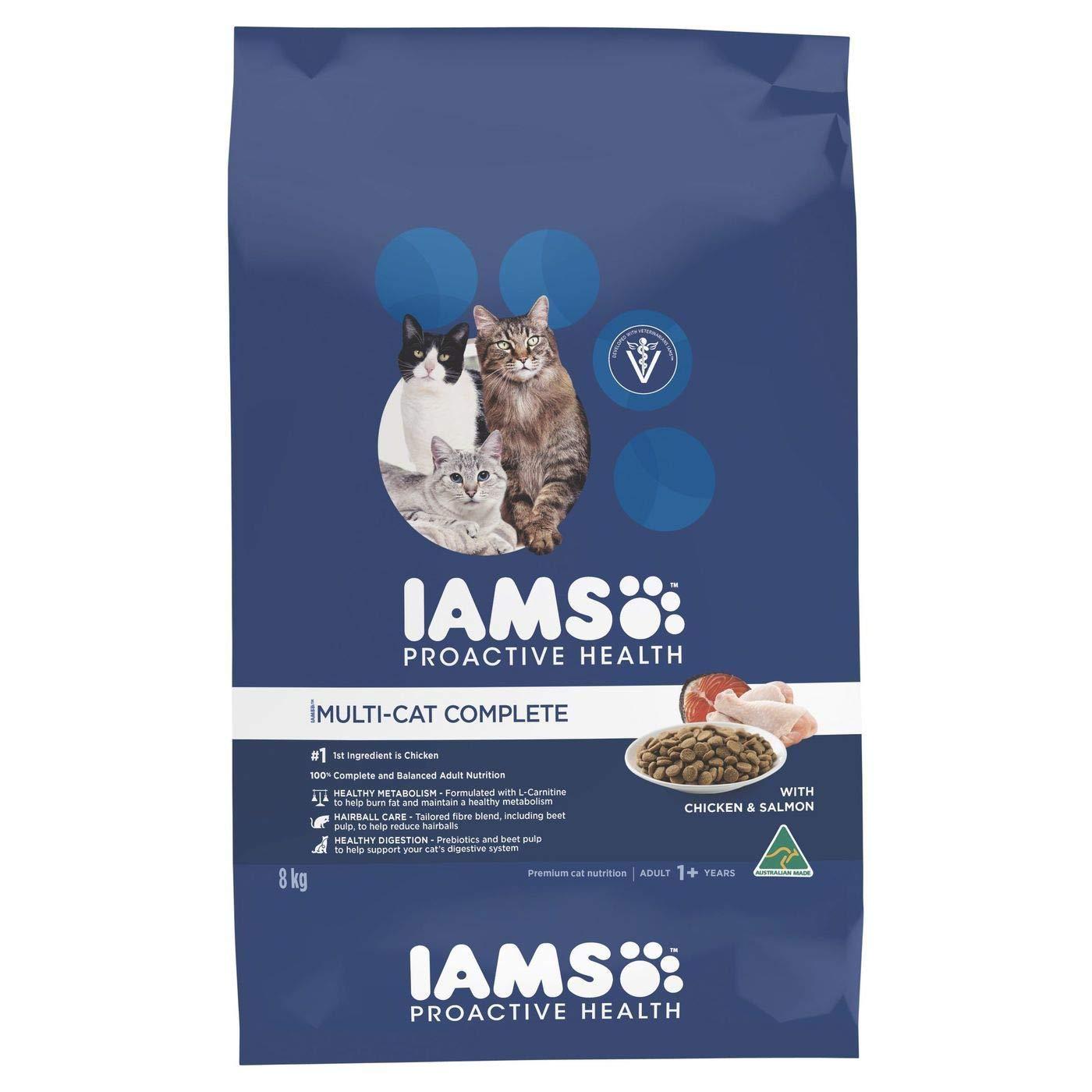 Iams Cat Adult Multi Cat Salmon 8kg (CIAMCS8)