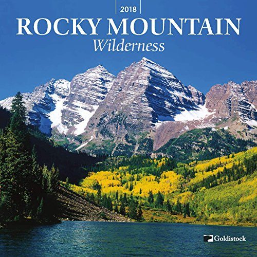 "Goldistock ""Rocky Mountain Wilderness"" Eco-friendly 2018 Wall Calendar- 12"" x 24"" (Open) - Awe-Inspiring Mountains in Colorado, Montana, New Mexico, Idaho, Canada & More"