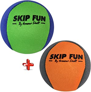 Armour Shell Water Balls Bounce On Water - Pool Ball & Beach Toys for Kids & Adults. Extreme Skipping Fun Games Everyone Will Love. Skip While Swimming & Keep Toddlers/Older Kids Having a Blast