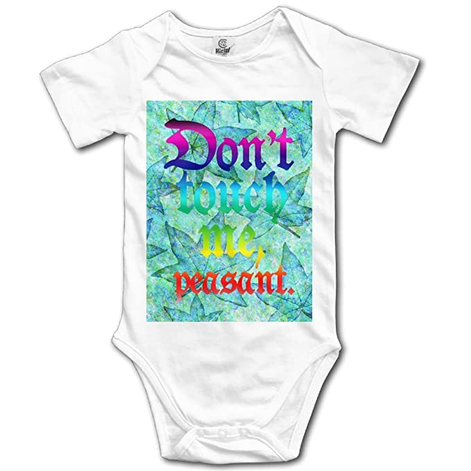 eeff3a2de5 Amazon.com  Kkajjhd Don t Touch Me Peasant Kids Boys Girls Baby Bodysuit  Outfits Baby Onesies  Clothing