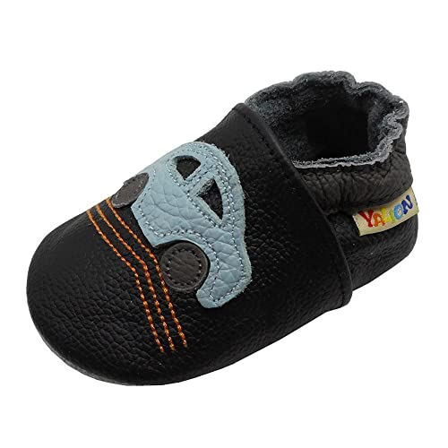 31aa4db7111 Yalion Baby Boys Girls Shoes Crawling Slipper Toddler Infant Soft Leather First  Walking Moccasins (APPR