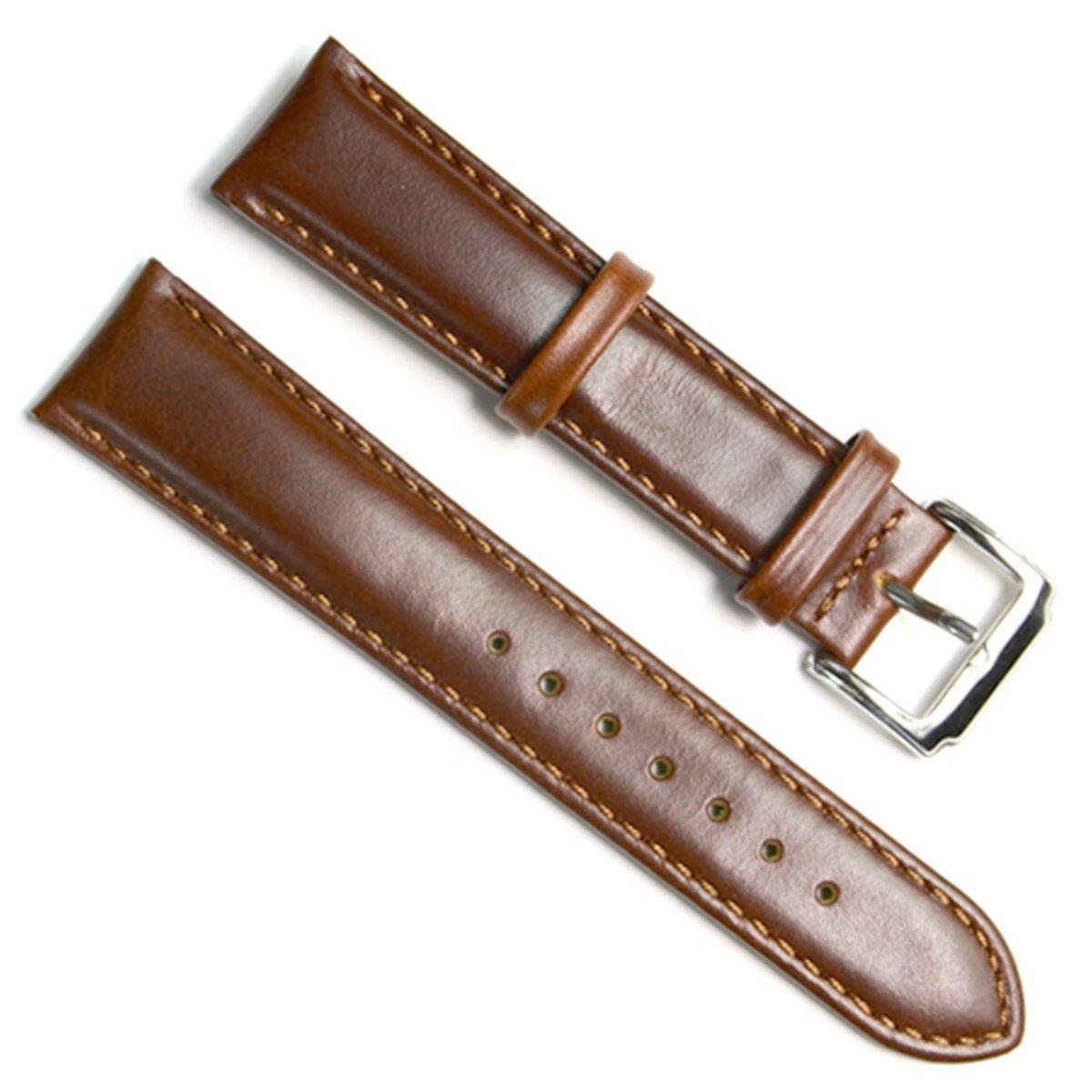 交換用の腕時計ベルト 本革 ステンレスメタル製の中留付き 18mm Oil Wax Leather/Coffee 18mm|Oil Wax Leather/Coffee Oil Wax Leather/Coffee 18mm B01EDTMEP2
