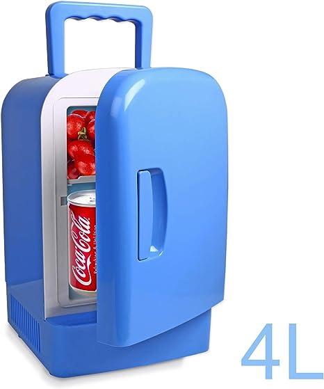 URAQT Mini-Frigorífico con Compartimento Congelador, Portatil ...