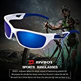 RIVBOS Polarized Sports Sunglasses Driving Sun Glasses For Men Women TR 90 Unbreakable Frame For Cycling Baseball Running Rb831