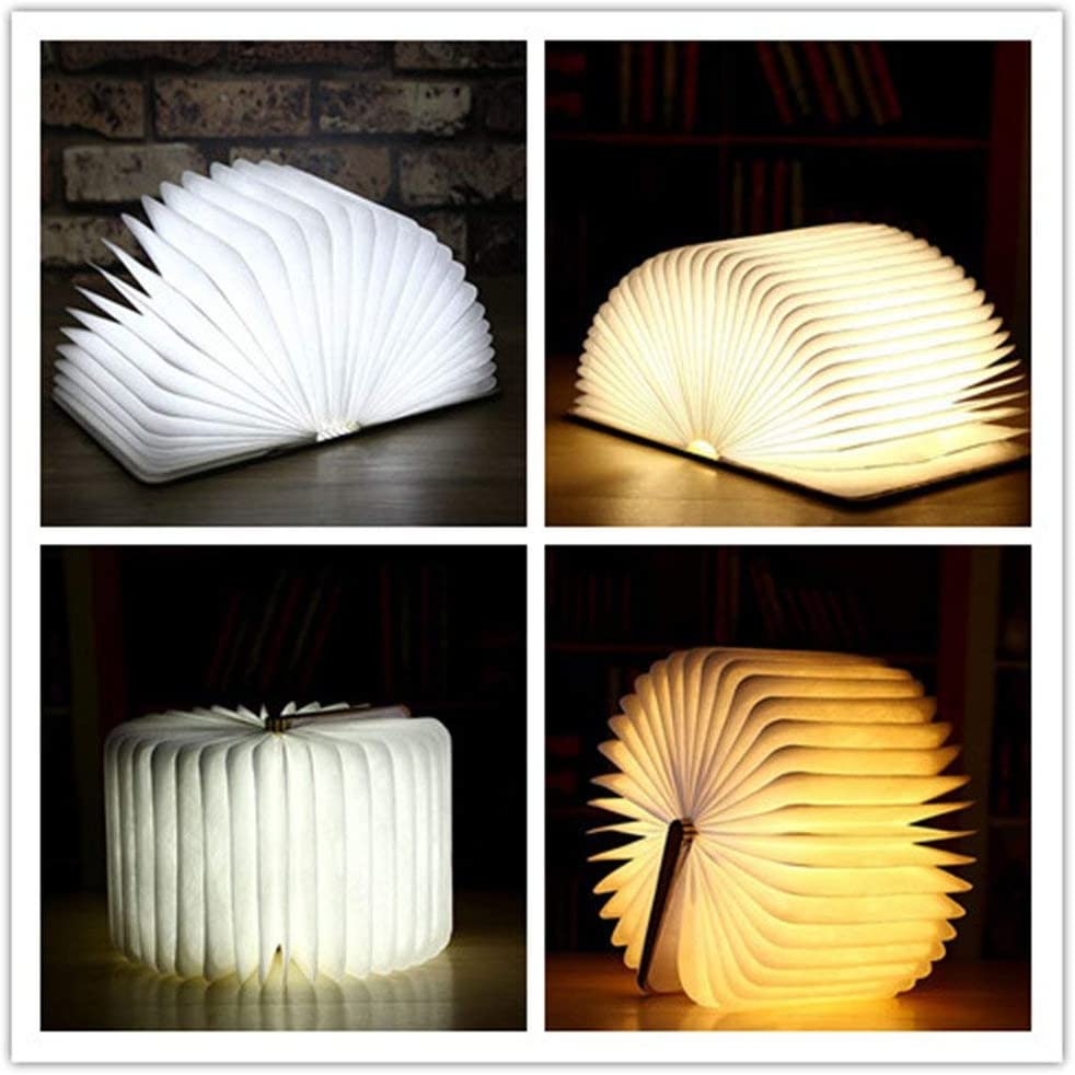 Amazon Promo Code for Wooden Book Light Page Turning Folding LED