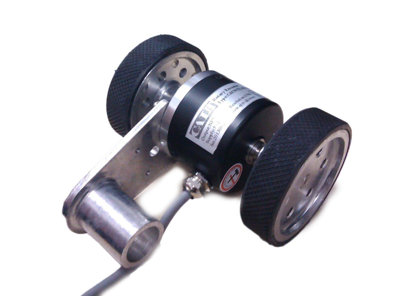 CALT 8mm Shaft 200p//r Rotary Encoder with Wheels 5-26Vdc