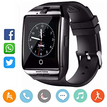 CatShin CS02 Reloj Inteligente-Smartwatch q18-black: Amazon.es ...