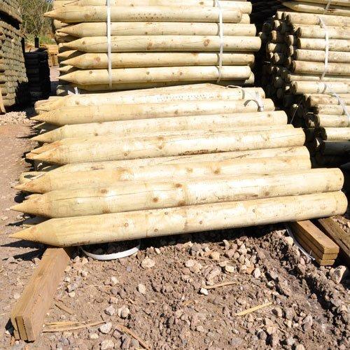 Round Wooden Fence Posts