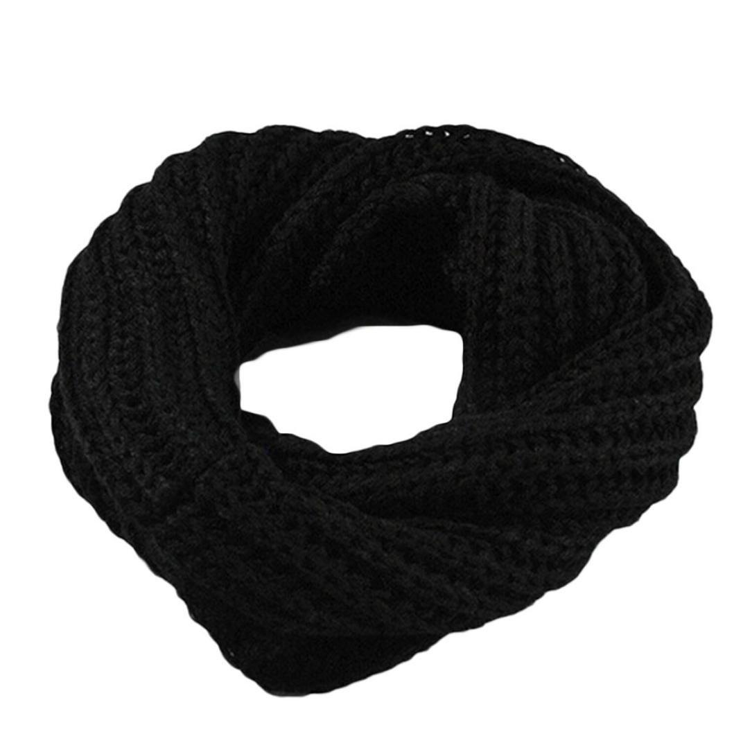 Omiky® Damen Männer Gestrickte Kreis Wolle Schal wickeln Winter warme Kragen