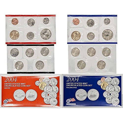 2004 P&D US Mint Uncirculated Coin Mint Set Sealed (Texas Coin Set)