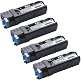 GLB © High Quality Dell 2150 High Yield Compatible Toner Cartridges SET - Dell 2150CN 2150CDN 2155CN 2155CDN -High Yield- Black 331-0719 Cyan 331-0716 Magenta 331-0717 Yellow 331-0718 For Use in Dell Color Laser 2150, Color Laser 2150CDN, Color Laser 2150