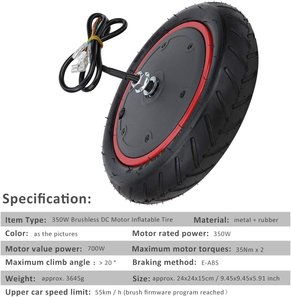 36V Inflatable Front Wheels Tire Motor For Xiaomi M365 Electric Scooter Useful