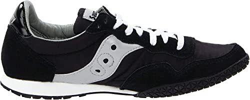infanzia Potente Comorama  Buy Saucony Women's Bullet Classic Retro Sneaker, Black/Silver, 12 M US at  Amazon.in