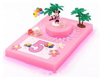 Tortendeko 5 Geburtstag Minnie Mouse 12 Teilig Tortenaufleger Kuchen