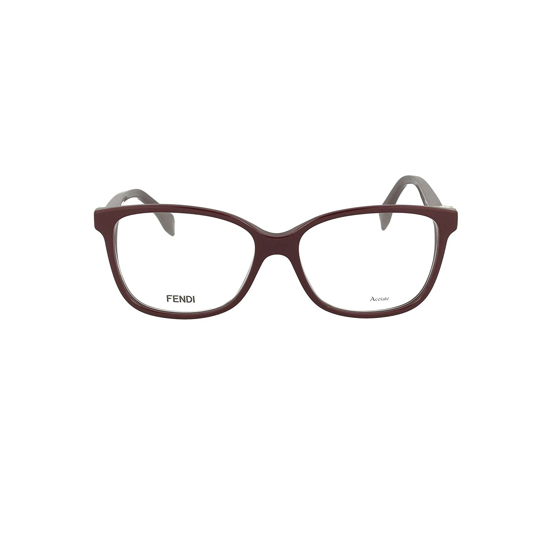 Fendi FF 0232 S85 Burgundy Plastic Rectangle Eyeglasses 53mm