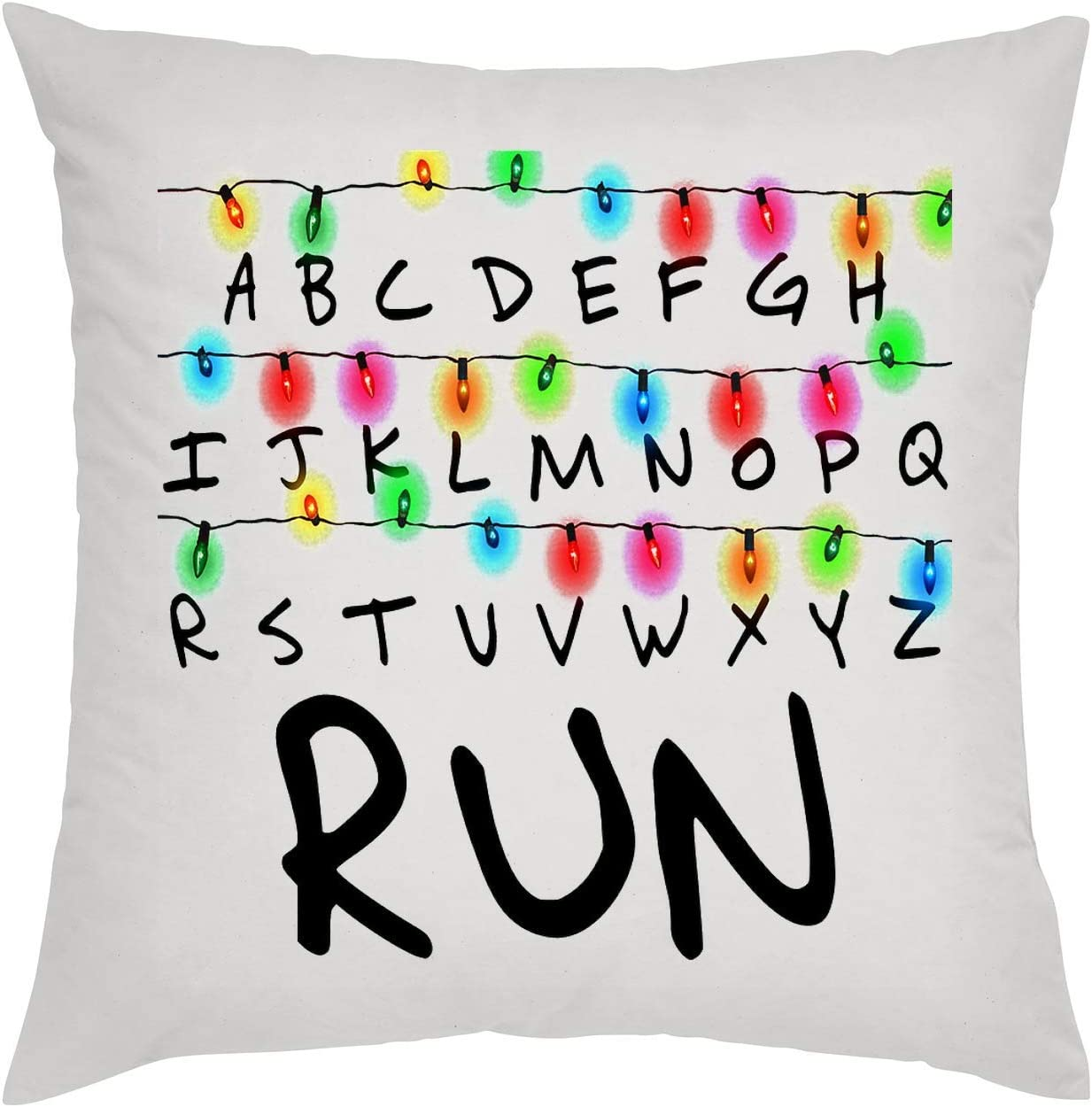KRISSY Run Stranger Things Alphabet Oreiller Pillow